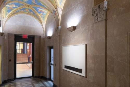 Installation of Susan York's mentioned work at the Morgan Library and Museum.