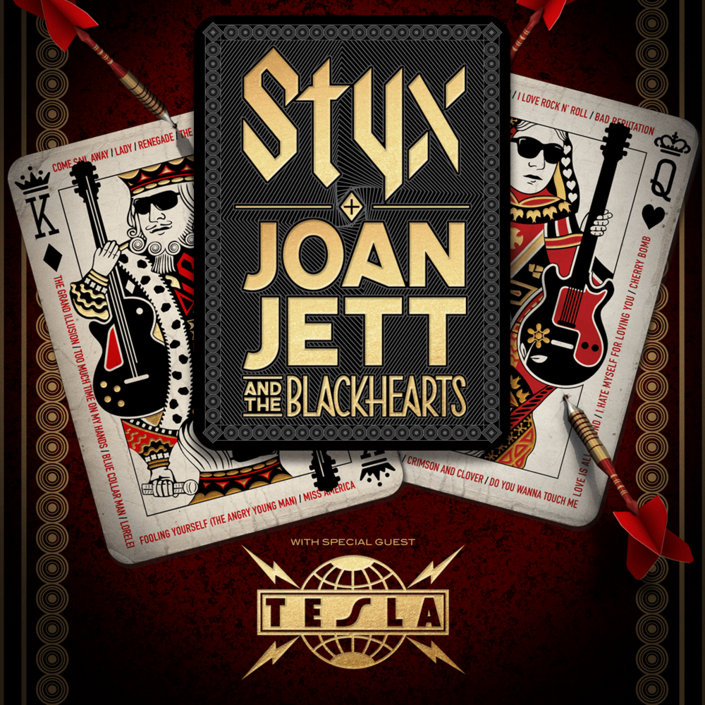 We were given access to photography Styx and Tesla only.  Joan Jett denied media passes.