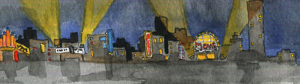 Original art for NYCinefiles, art by Emma Tragert.