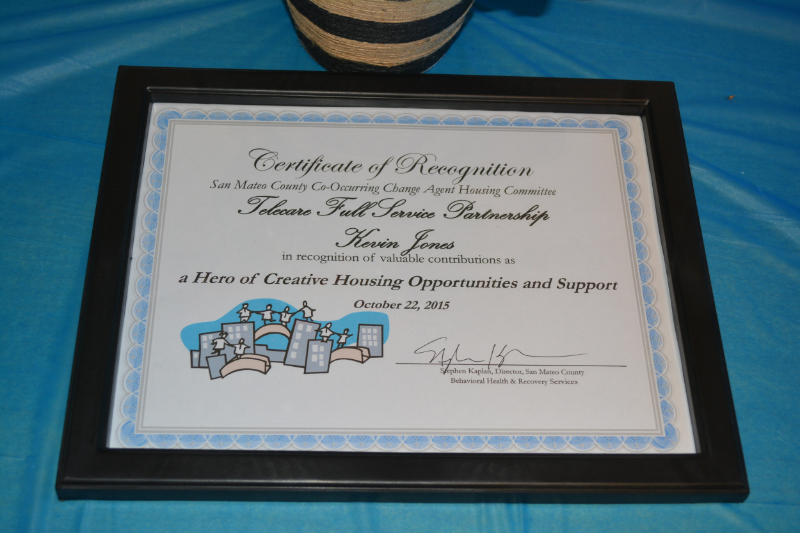 Housing Heroes award, received by Kevin Jones on    October 22.