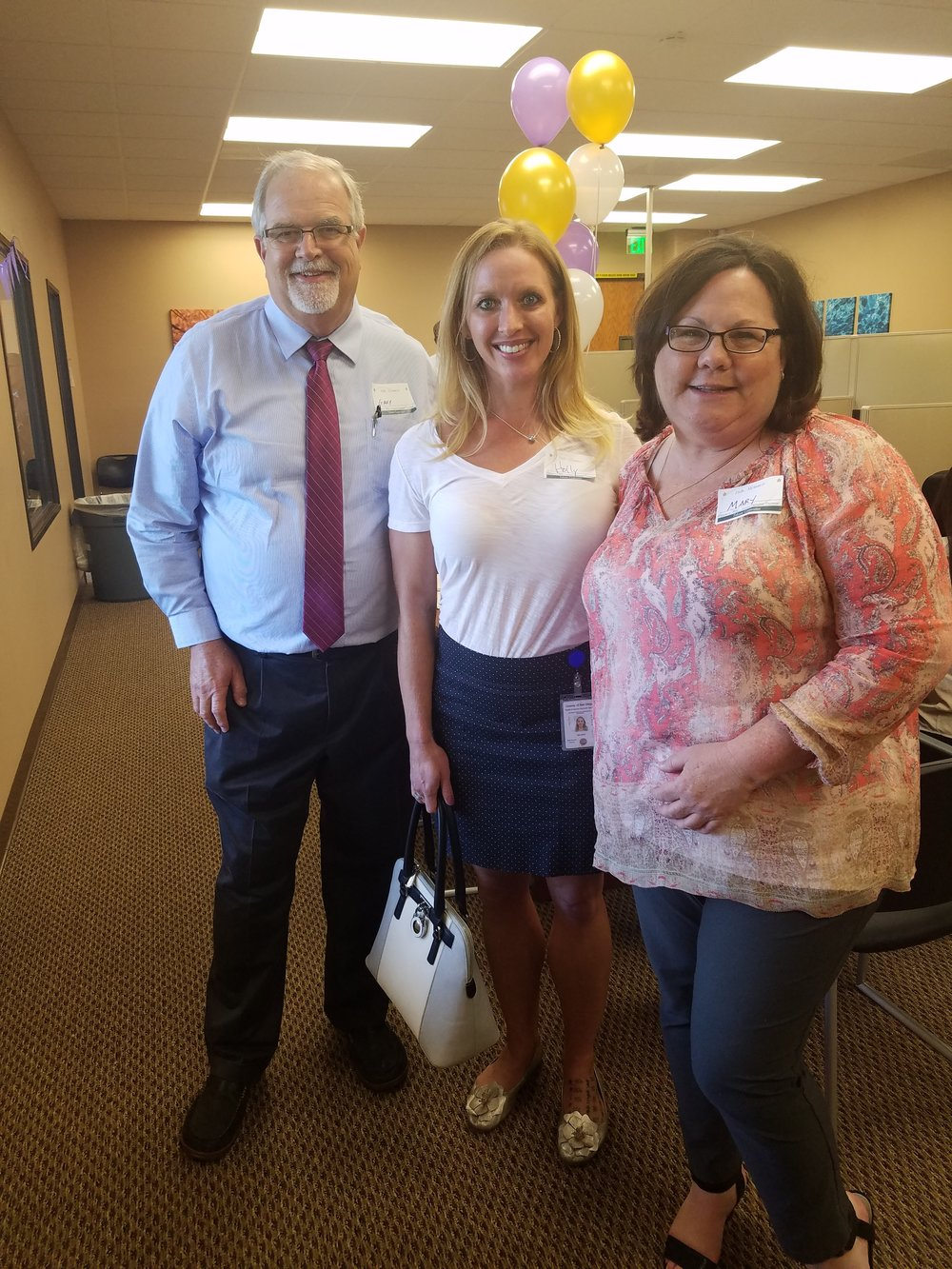 (L-R)  Gary Hubbard , Vice President of Operations of Southern California and Arizona;  Holly Salazar , Assistant Director, Departmental Operations Behavioral Health Services; and  Mary Woods , Regional Director San Diego County and Arizona