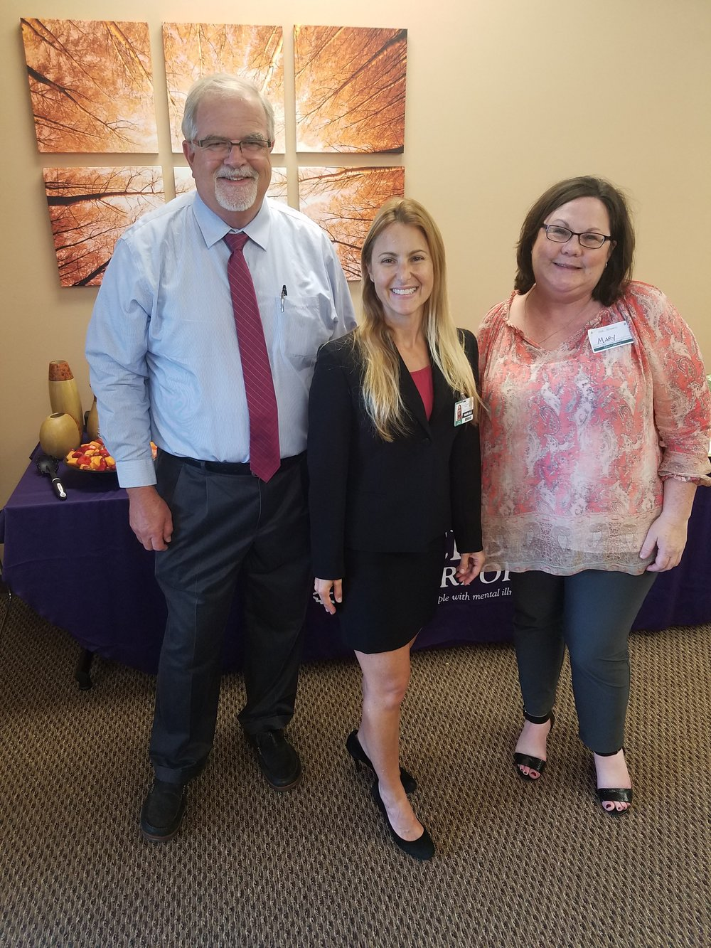 (L-R)  Gary Hubbard , Vice President Vice President of Operations of Southern California and Arizona;  Natalie Blair , Administrator; and  Mary Woods , Regional Director San Diego County and Arizona