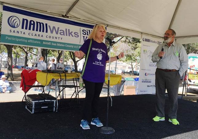Lillian Fillpot , Administrator, Santa Clara Partners in Wellness, speaks at the Silicon Valley NAMI Walk    Saturday, September 17.