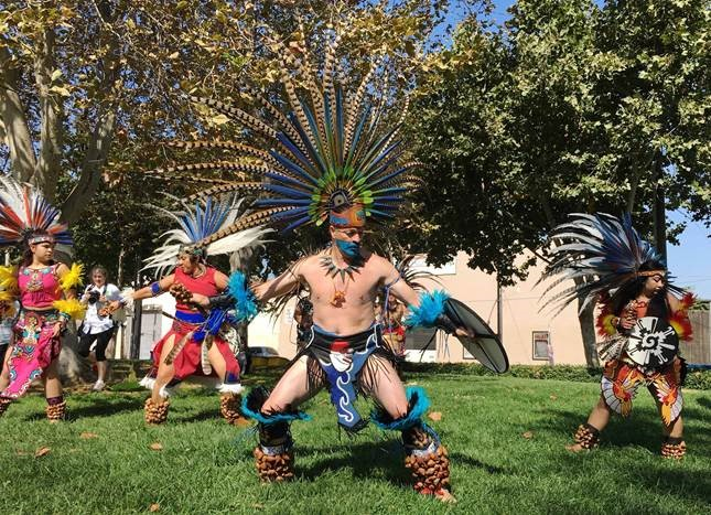 Aztec dancers performed at the Silicon Valley NAMI Walk  on   Saturday, September 17.