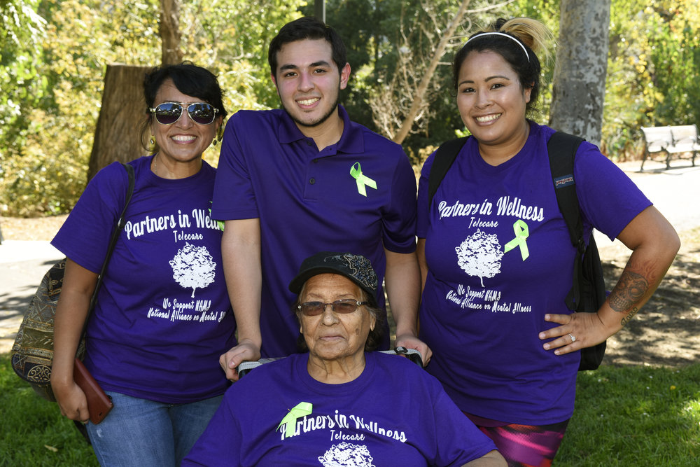 (L-R): Rachael Castro  ,   Mathew Castro,     Edie Coronado,  and  Justina Coronado  at the Silicon Valley NAMI Walk  on   Saturday, September 17.