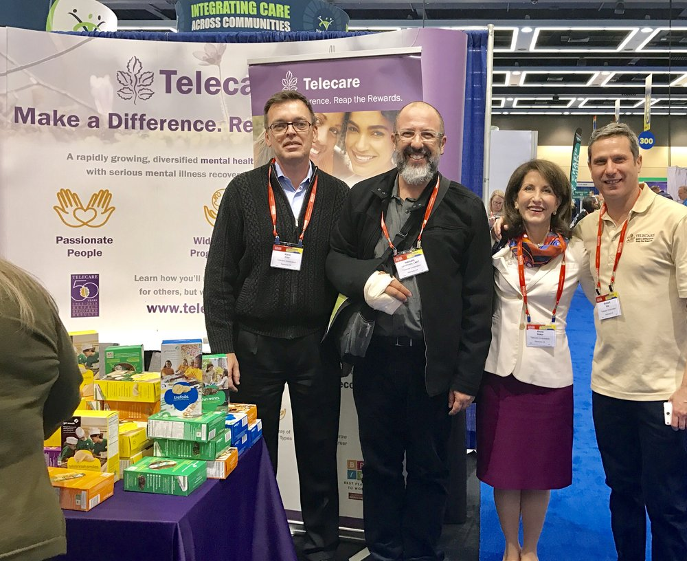 (L-R)    Kent Eller , Md, Chief Medical Officer;  Marcelo Cavalheiro , Regional Director of Operations in Los Angeles;  Anne Bakar , President and CEO; and  Robert Klar , Talent Acquisition Director; at the National Conference April 3-5.