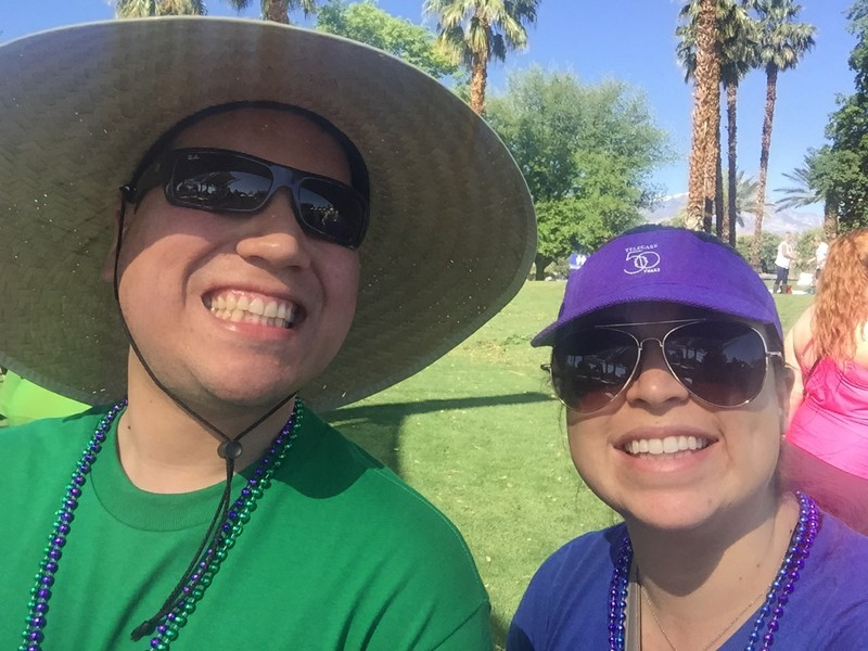 (L-R)  Kylie De La Torre , Director of Rehabilitation; and  David Navarette , Peer Support Specialist, at the Out of the Darkness Walk on April 1, 2017.