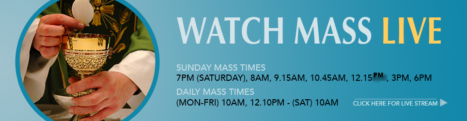 During the season of lent - additional mass Fridays @ 7pm
