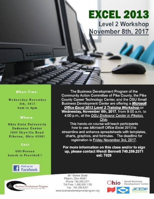 Microsoft Excel 2013 Level 2 Flyer - Nov 2017.jpg