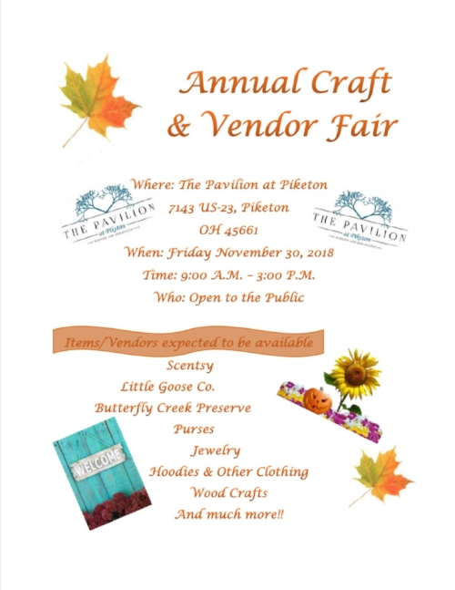 Pavilion at Piketon - Vendor & Craft Fair FLYER.jpg