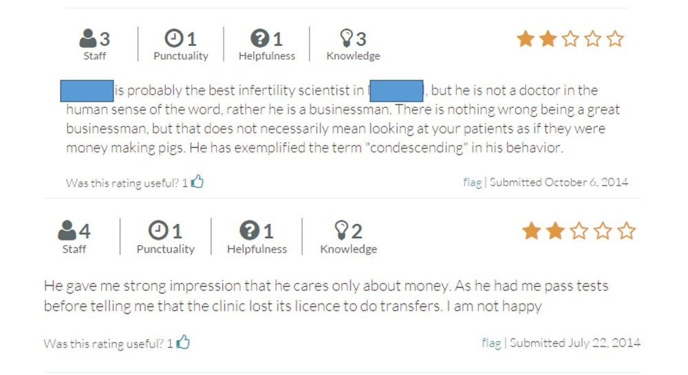It's worth mentioning that these reviews came from a place with one of the best public plans for infertility coverage in the world.