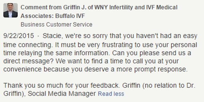 How to respond to negative fertility clinic reviews