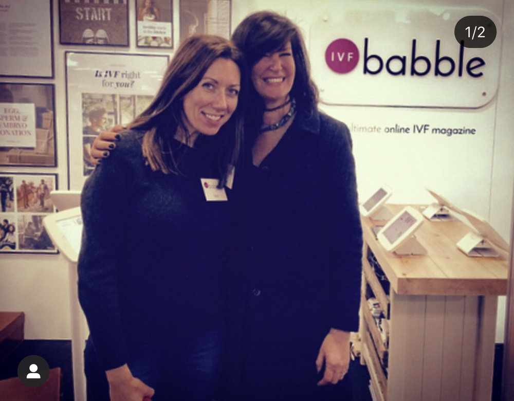 Follow Tracey and Sara on Instagram @ivfbabble