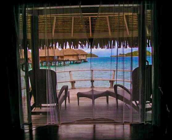 Waking up in Bora Bora