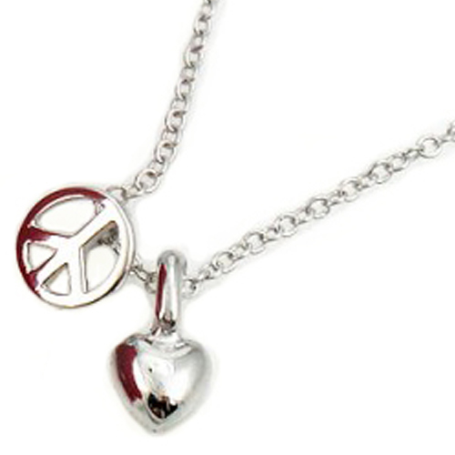 Heart / Peace Charm Necklace