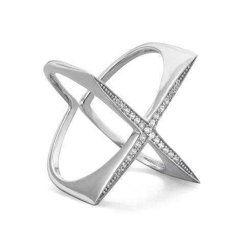 "Flat Top ""X"" Ring"