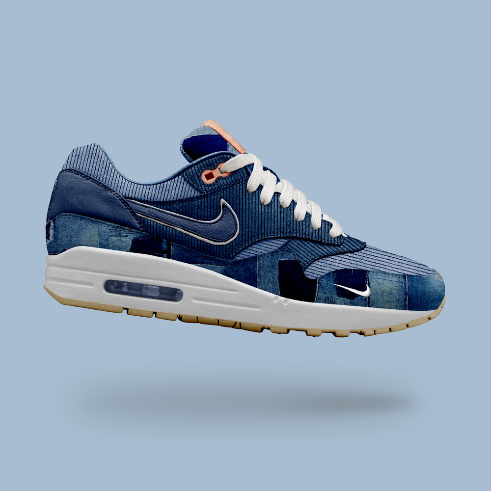 Day 330: Air Max 1 Denim Patchwork