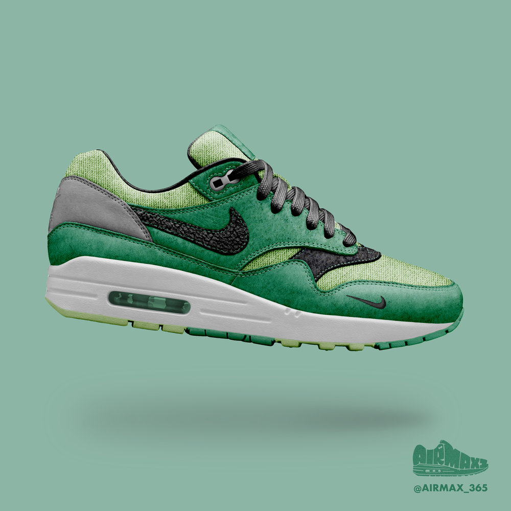 Day 318: Air Max 1 Cool Green