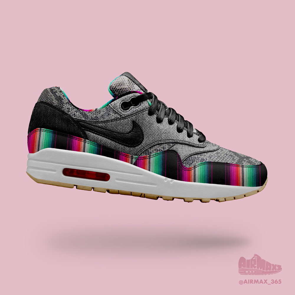 Day 295: Air Max 1 Serpiente arcoiris