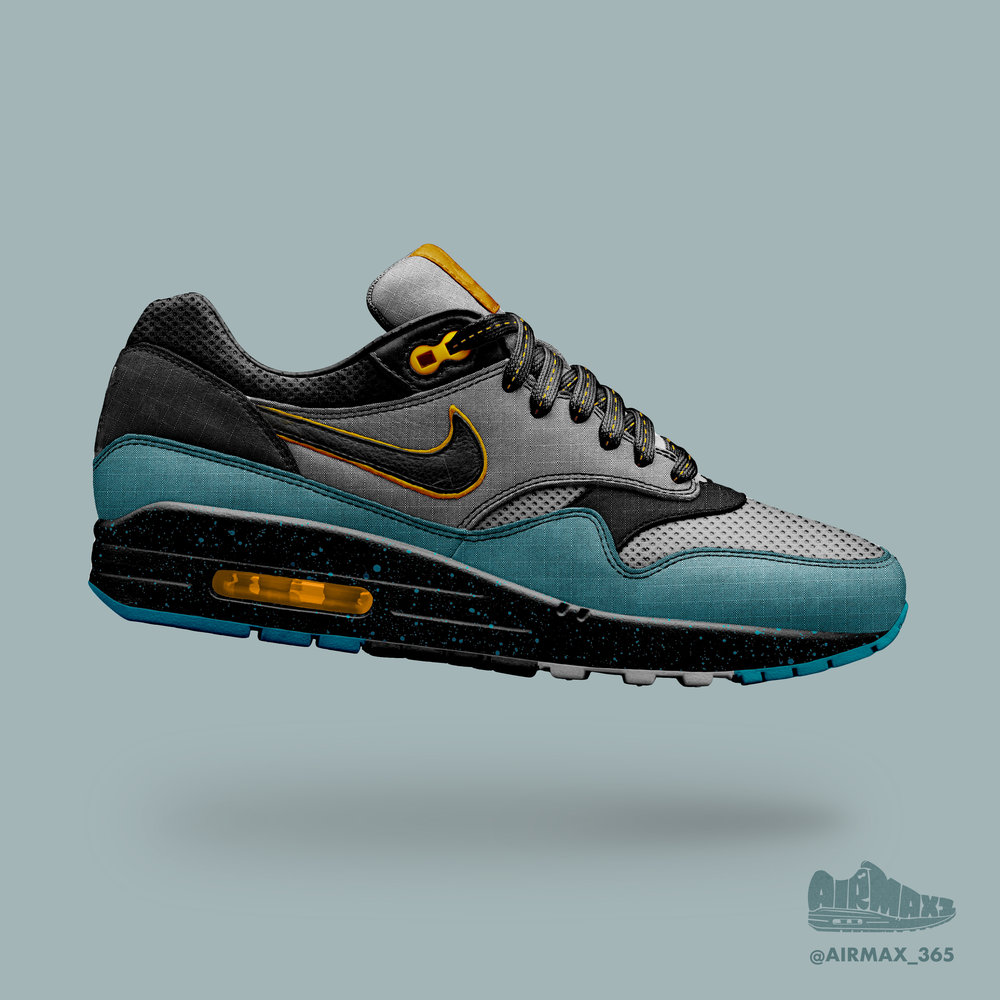 Day 262: Air Max 1 Electro Teal