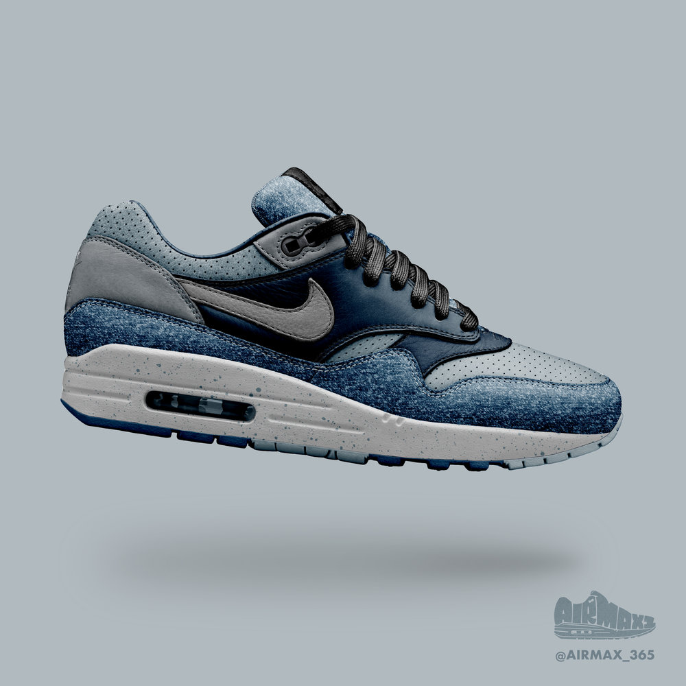 Day 217: Air Max 1 Indigo Ocean