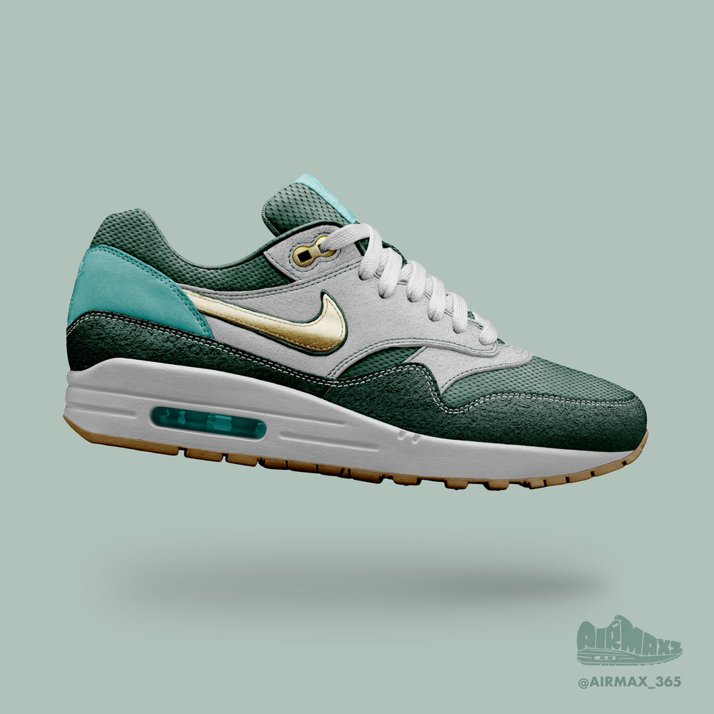 Day 208: Air Max 1 Spruce