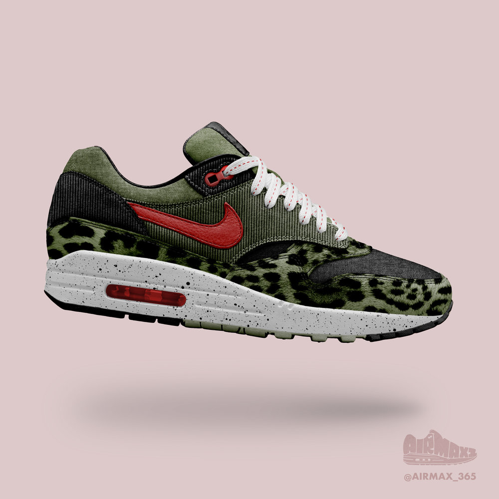 Day 201: Air Max 1 Olive Leopard
