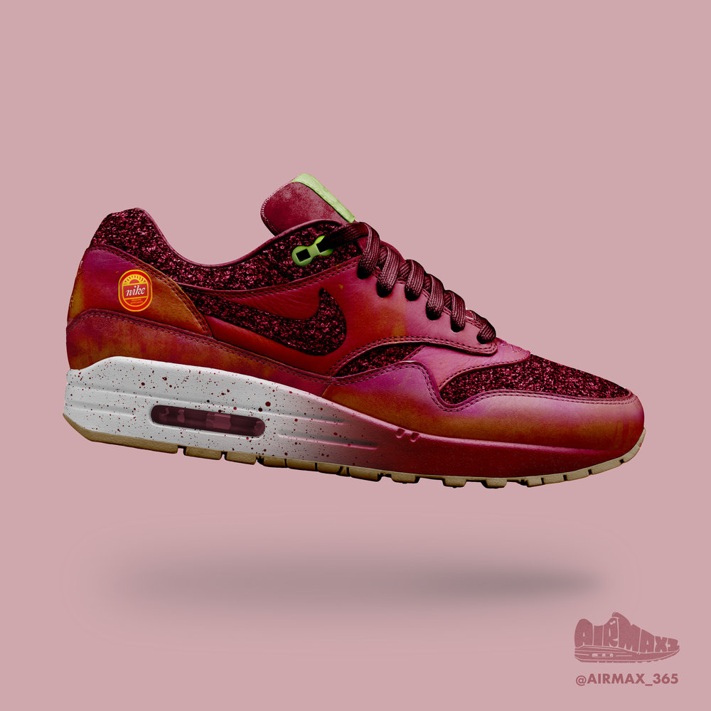 Day 181: Air Max 1 Pomegranate