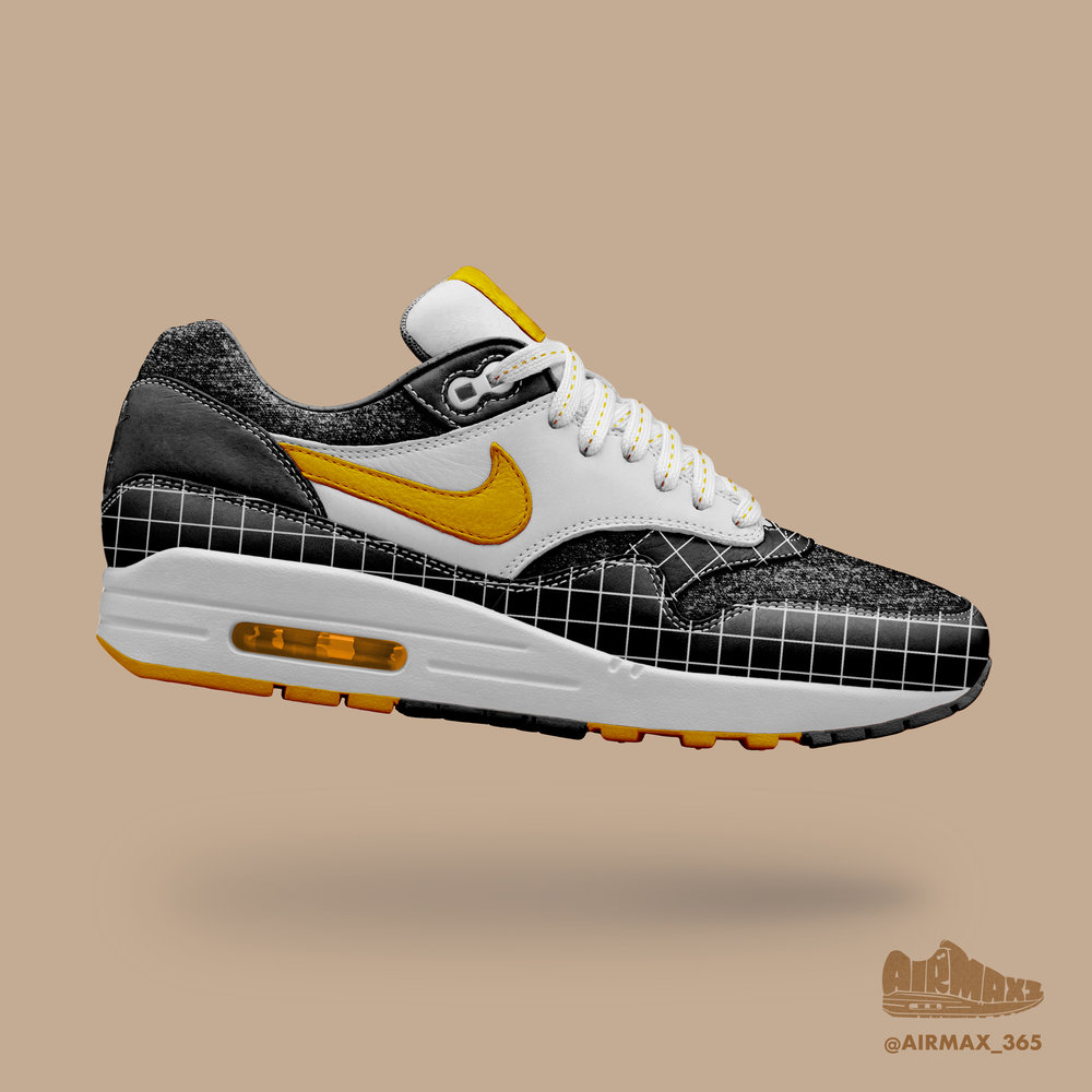 Day 175: Air Max 1 Kumquat grid