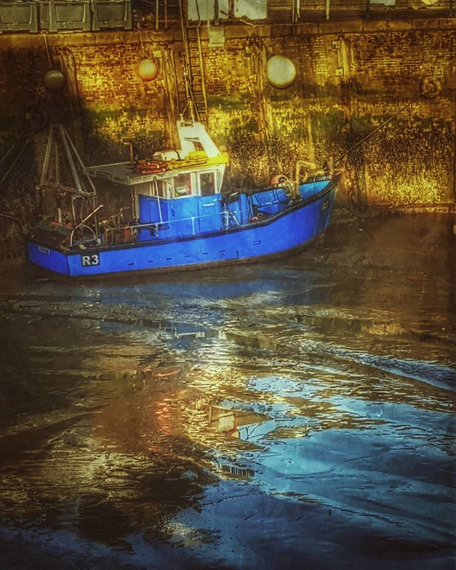 A fishing boat in Whitstable harbour  #picoftheday #photooftheday #prettykentcoast #visitkent #coast #kent #landscapephotography #kentcollective #lovekent #whitstable #colours #filter #igerskent #harbour #fishingboat #boat