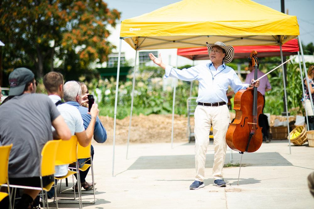 Yo-yo Ma and his Cello in Denver