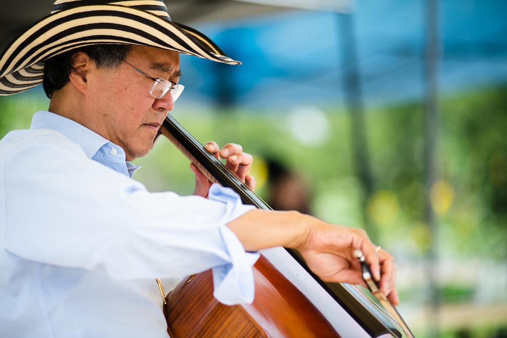 Yo-yo ma playing his cello in Denver