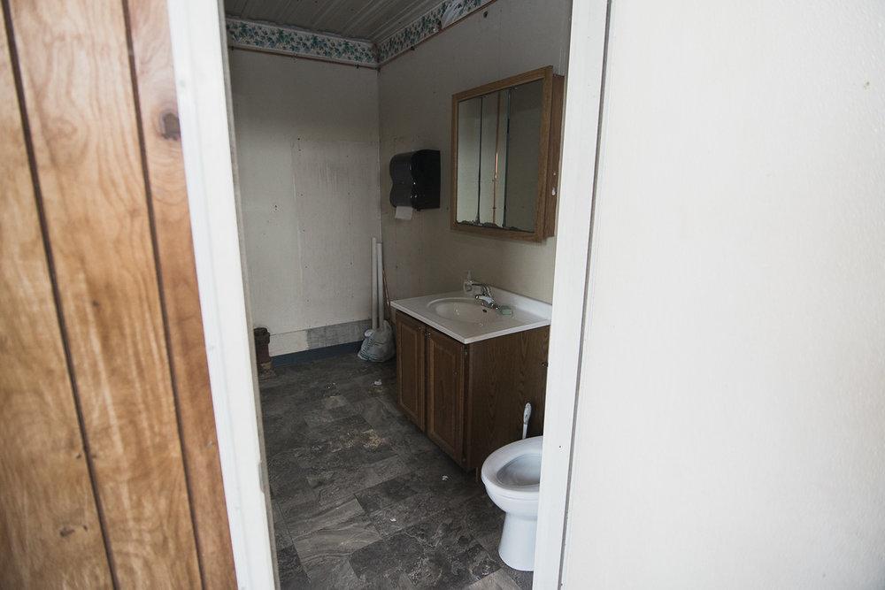 Indoor plumbing?!! Good-bye porta-potty!!