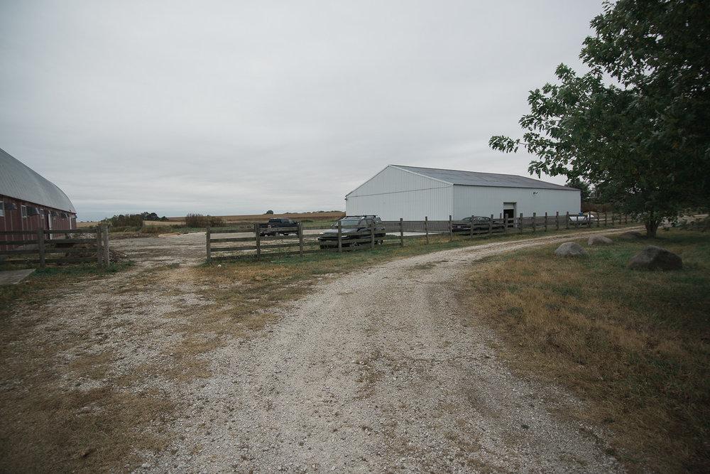 The white pole barn.