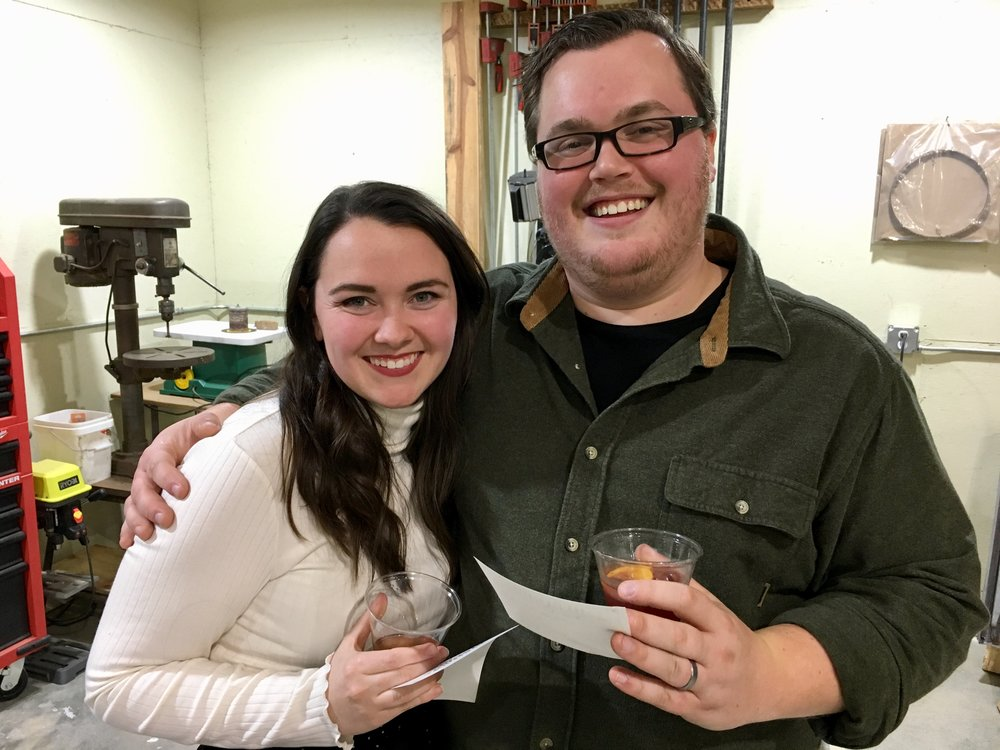 Newlyweds Brock and Kayla's first Holiday party!