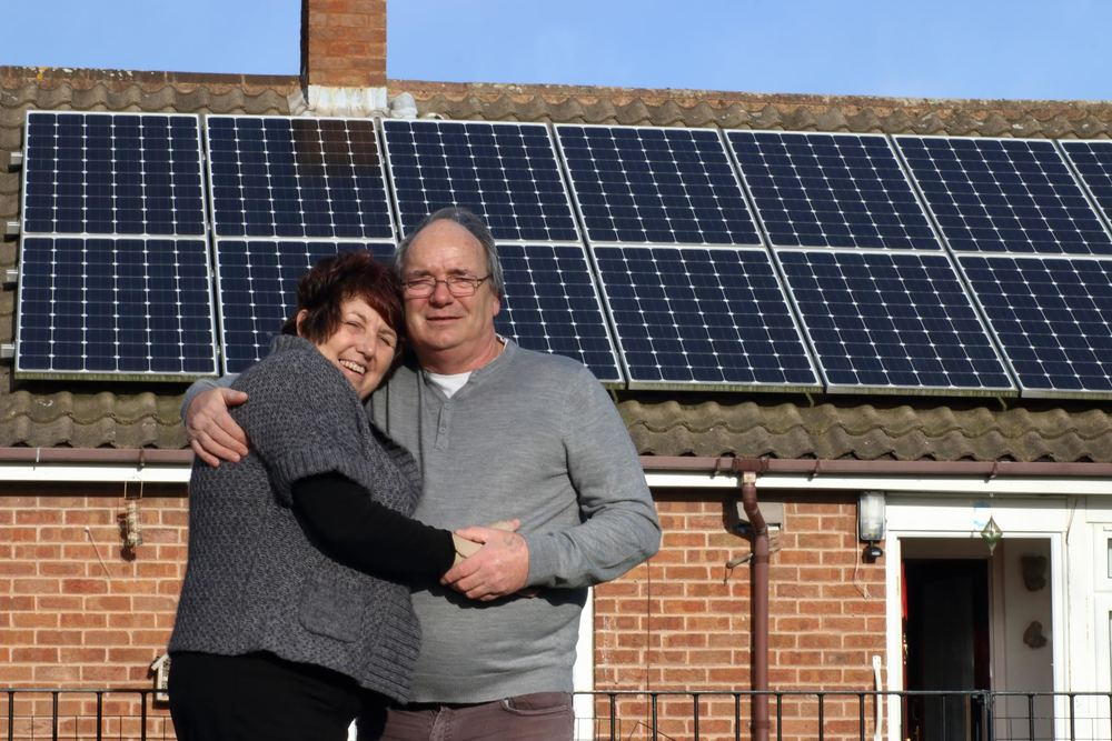 Pat and Richard Astbury received solar on their council owned home thanks to Chase Community Solar.