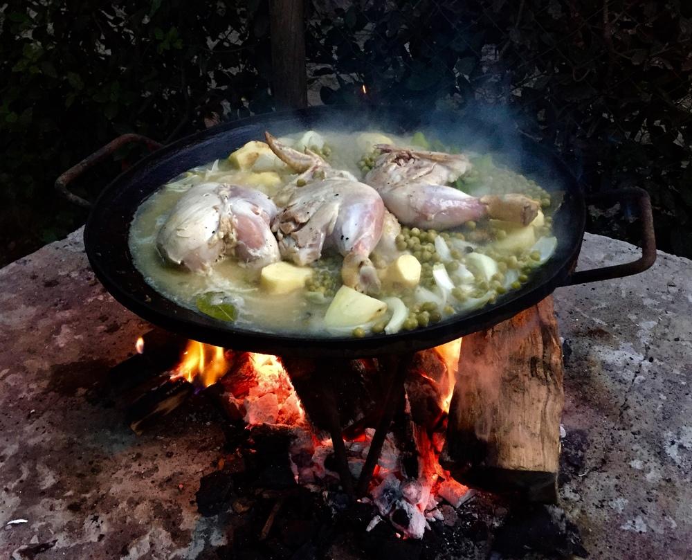 Pollo al Disco... a classic Argentinian dish.