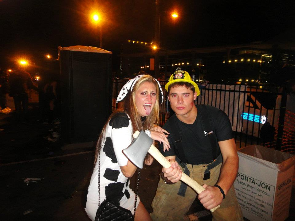 dalmation and firefighter