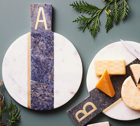 Marble Monogram Cheese Plate - $38