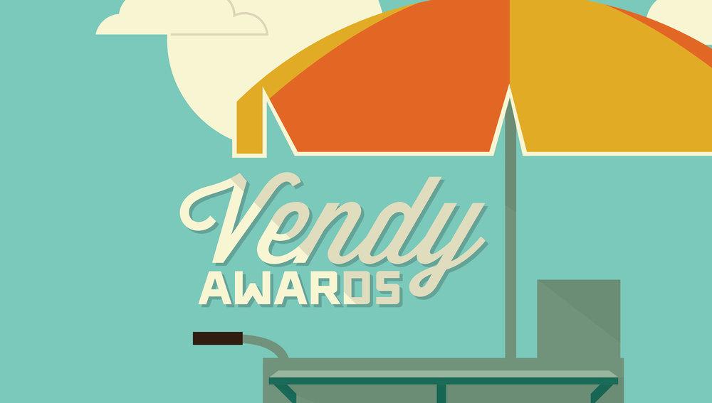 THE VENDY AWARDS ILLUSTRATION   LOGO DESIGN  MORE INFO