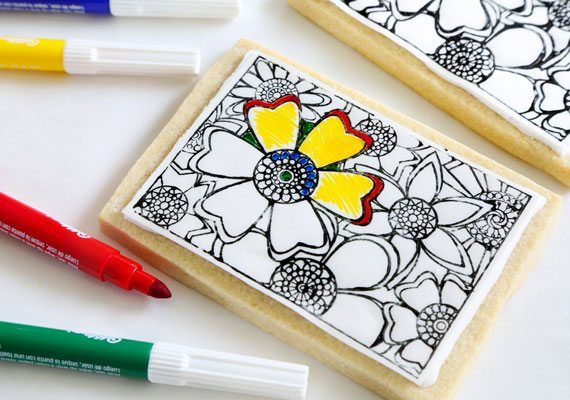 Make Coloring Book Cookies