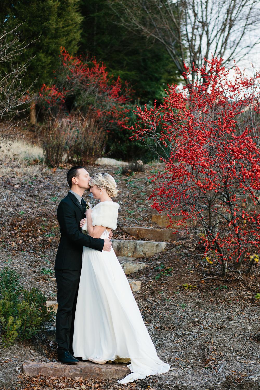 Asheville Elopement Bride and Groom Kissing.jpg
