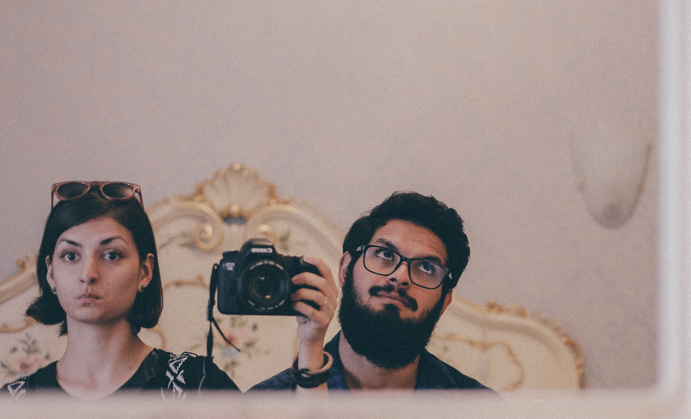 We never did so many selfies in the mirror. Before Venice.
