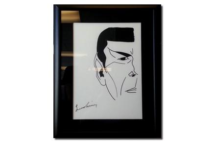 Spock Shirt - Signed by Leonard Nimoy & Framed — Lightspeed Fine Art