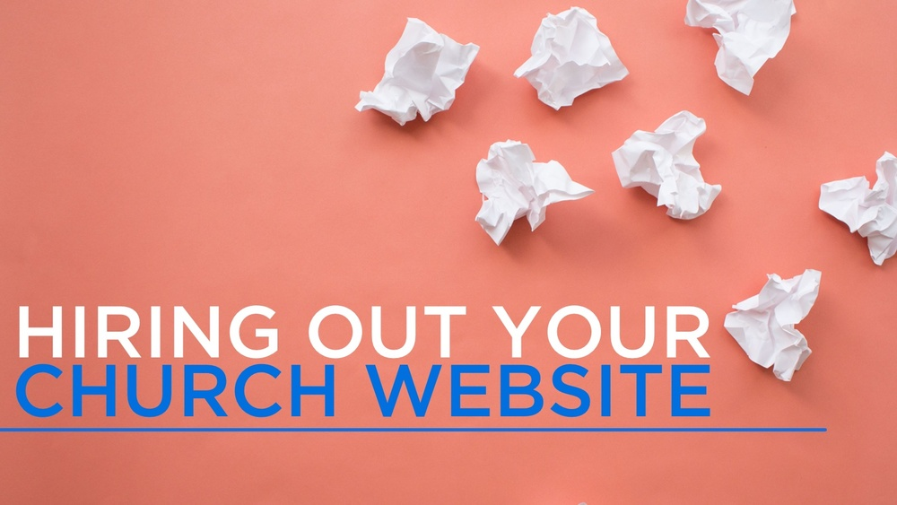 Hiring out your church website