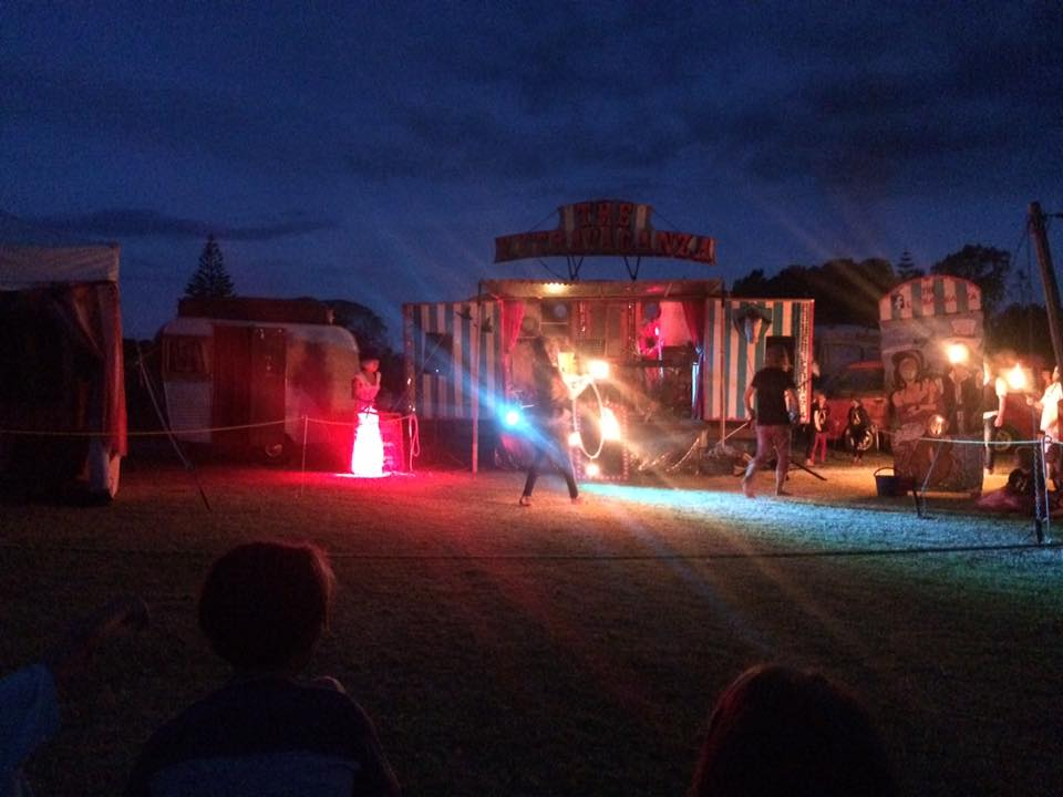 Twilight fire show - Waihi Beach @ New Years