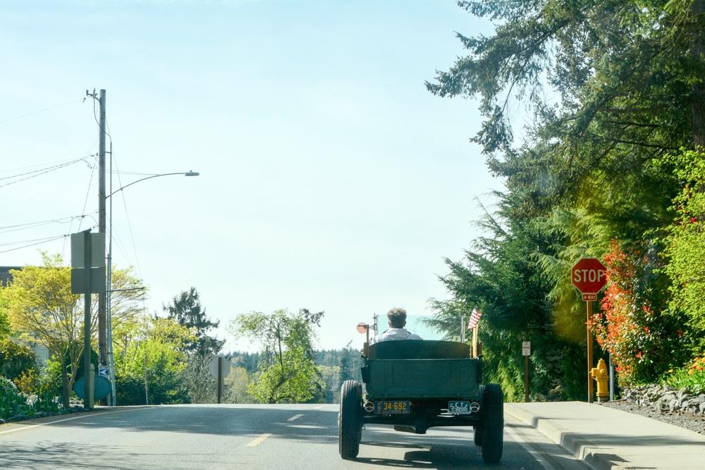 Driving into La Connor