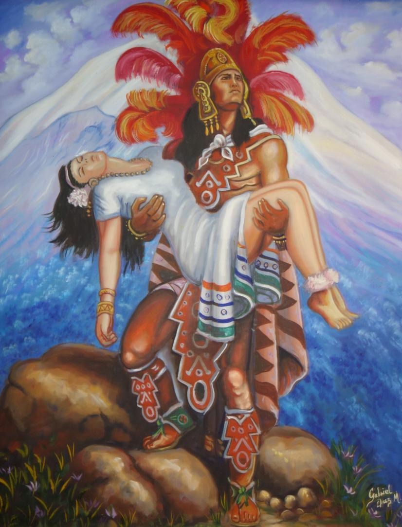 Plaza Inn's painting of Popocatépetl and Iztaccíhuatl. Learn more.