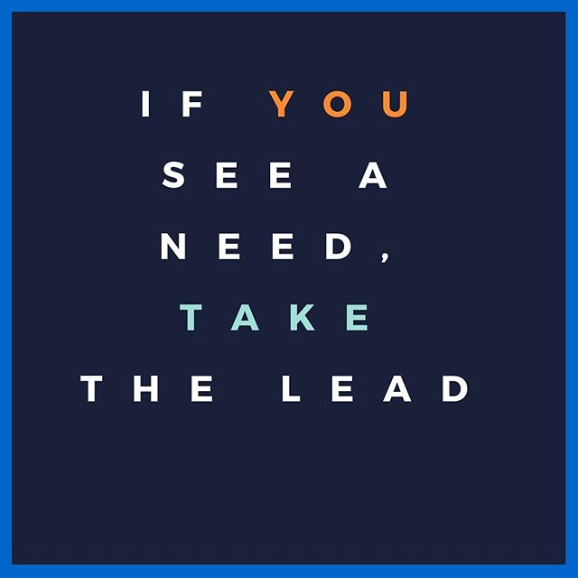 "Hey guys! The theme of this month is ""If you see a need, take the lead"". Keep this in your heart and mind. If you someone is your daily walk of life in need, give a helping hand or maybe just lend an ear. Today could be the day God uses you to brighten someone's day!"