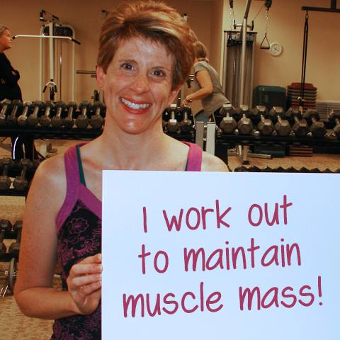 Clients work out for a variety of reasons - maintaining muscle mass is a good one!